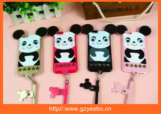TPU case with cartoon panda cover case for iphone 4 5 6 6+