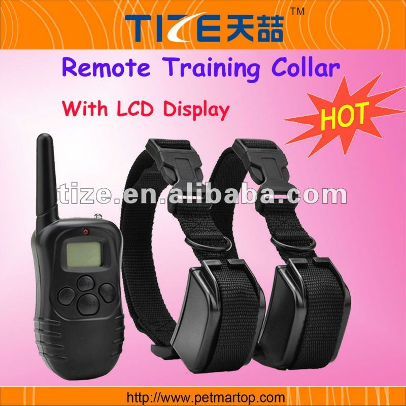 Remote vibrating dog training collar TZ-PET998D Shock collar with 300 meter range