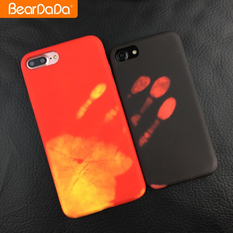 Best Quality thermal induction color changing phone case for iphone 7