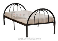 2016 Cheap Wrought Round Iron Single Metal Tube Bed Frame