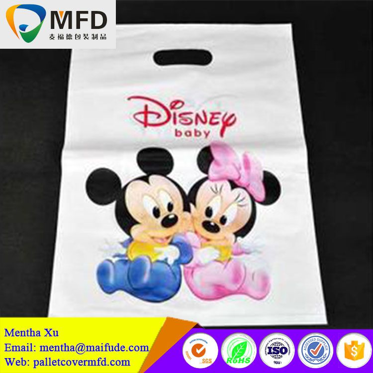 Alibaba China printed plastic t shirt custom retail bags shopping bag with logos