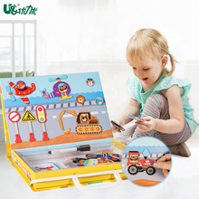 Educational Kit Magnetic Board Puzzle Toys Game For <strong>Kids</strong>