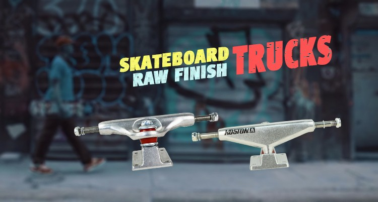 KOSTON high quality gravity casting raw finish skateboard truck with hollow kingpin