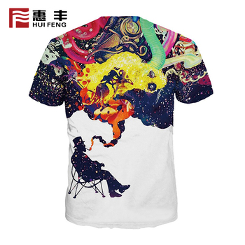 wholesale custom full printed t-shirt , 100% microfiber polyester t shirt for sublimation printing