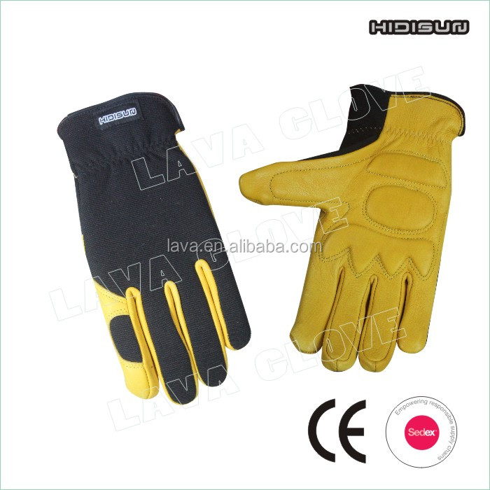 wholesale black comfortable deerskin safety work glove ,drive glove