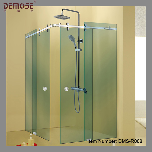 modern colored glass bathroom shower