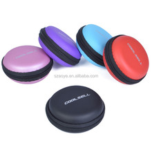 Custom Round Portable eva earphone case /eva earphone hardshell/carrying bag
