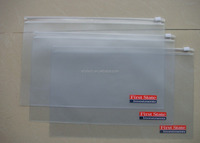 waterproof school use A5 SIZE pvc document bag with zip lock