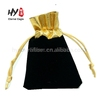 Custom logo fashion embossed velvet jewelry gift pouch