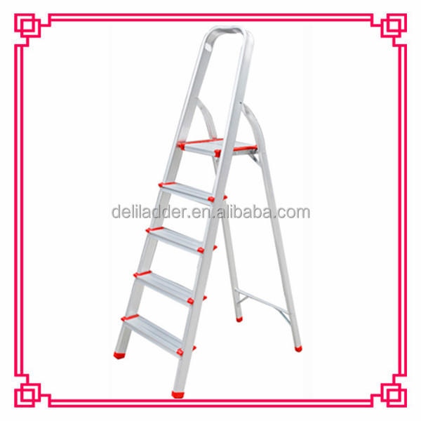 metal Collapsible wide Step Ladder Types
