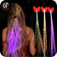 Christmas Decoration Led Fancy Optical Fiber Cable Hair Accessory
