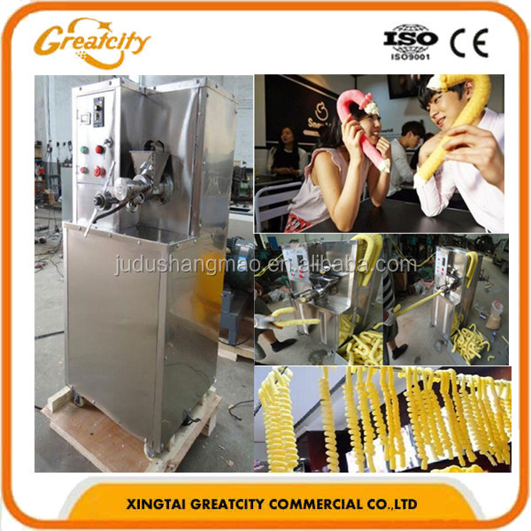 Twin Screw Wheat Flour Corn Puff Food Snack Extruder Machine