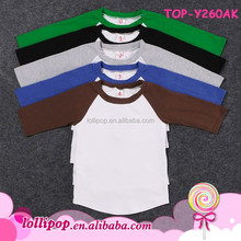 American Apparel Monogram Blanks Raglan 3/4 Sleeve Baseball Tee Shirt Curve Hem Plain Toddler Boys Baby Raglan Baseball T Shirt