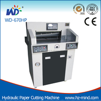 Professional manufacturer Program-control Hydraulic WD-670HP 26 inch Simple Paper Cutting Machine Guillotine Cutter