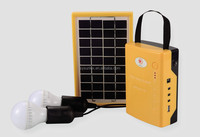 5W solar panel with USB mobile charge portable solar home lighting systems