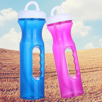 Free Sample Interesting Plastic Straw Bottle,Easy Grip,Many Color Options,16oz480ml