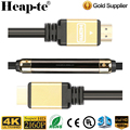 Ultra 4K HDMI Cable(100 Feet)with Built-in Signal Booster-Support 3D,1080P,Ethernet,Audio Return HD - (Golden)