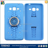real watch stand silicon case for samsung galaxy grand prime g530h