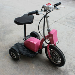 Standing up electric adult tricycle with removable lithium battery