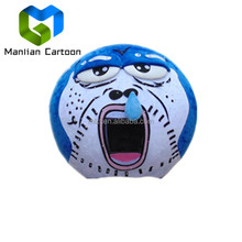 Professional custom soft plush blue funny hallowen head mascot costumes for party