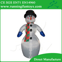 Small Outdoor Inflatable Christmas Snowman, Home decorations Inflatable Snowman