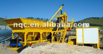 25m3/h Mobile concrete batching plant