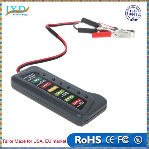 Tirol 12V LED Digital Car Battery Tester Alternator Tester 6LED Lights Display Indicates Condition Diagnostic Tool