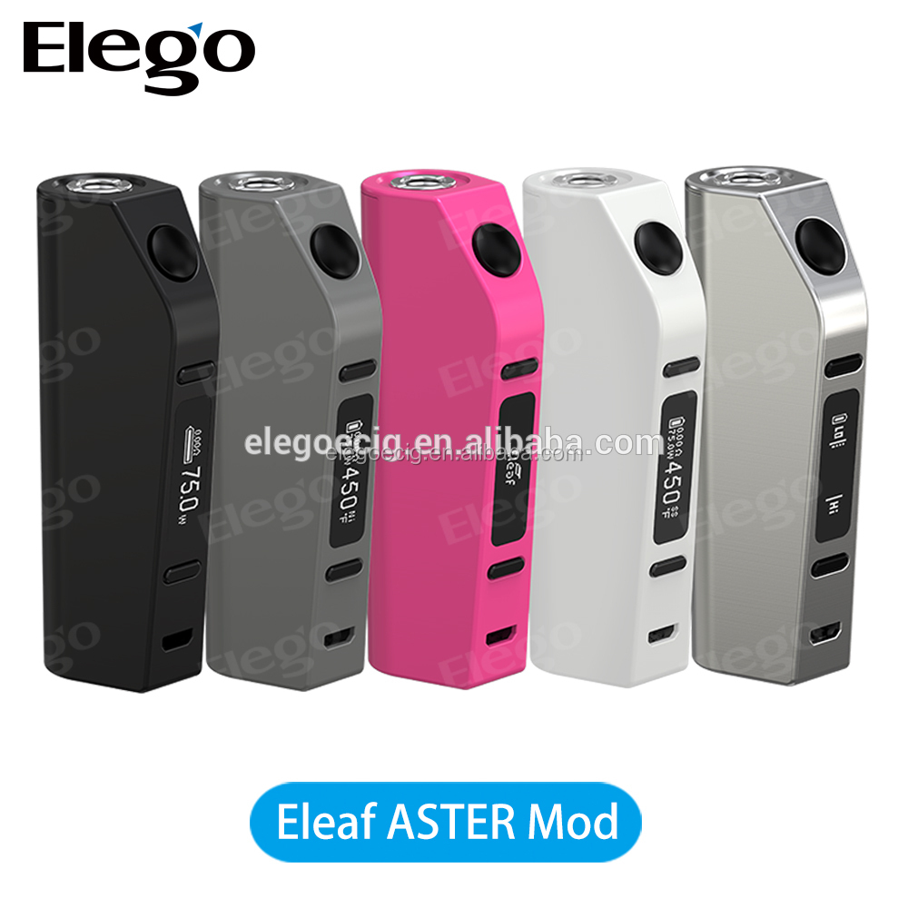 Factory Price Wholesale 2016 Newest Arrival Genuine Eleaf ASTER Mod 75Watts