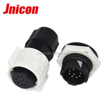 Jnicon M19 fluorescent light connector IP67 waterproof aviation connector