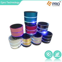 2015 new colorful LED light bluetooth mini wireless speaker with USB port Support phone /Laptop/ Tablet PC Suppory TF Card