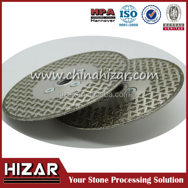 Electroplated Diamond Saw Blade with Two side triangle for glass and tile, marble