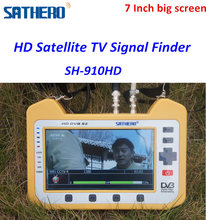 HD Satellite TV Signal Finder Meter SH-910HD Real spectrum analyser ws6980 digital finder meter with 7 inch LCD screen