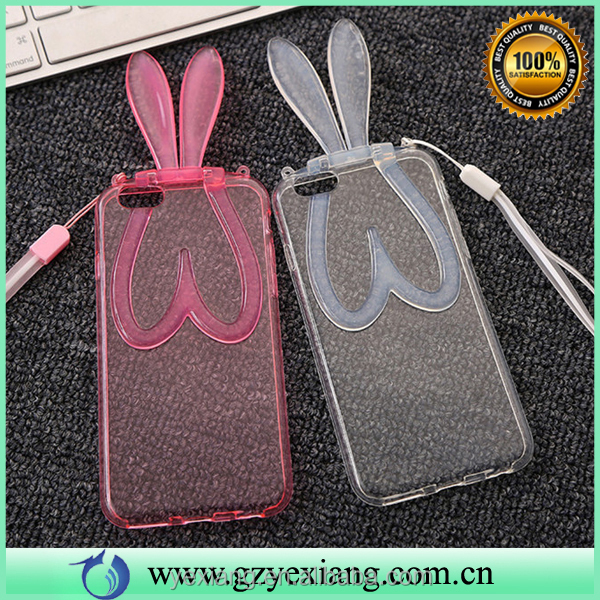 Mobile accessories cute lovely rabbit bunny ears case cover for iphone 4 soft tpu back cover
