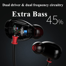 Dual Driver Extra Bass Wide Sound Field Sport In-Ear Monitors Headphones