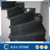 High quality black granite stairs,stone stairs