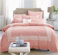Holiday Hotel bedding set /comforter set 8pc 100% cotton / Lace design