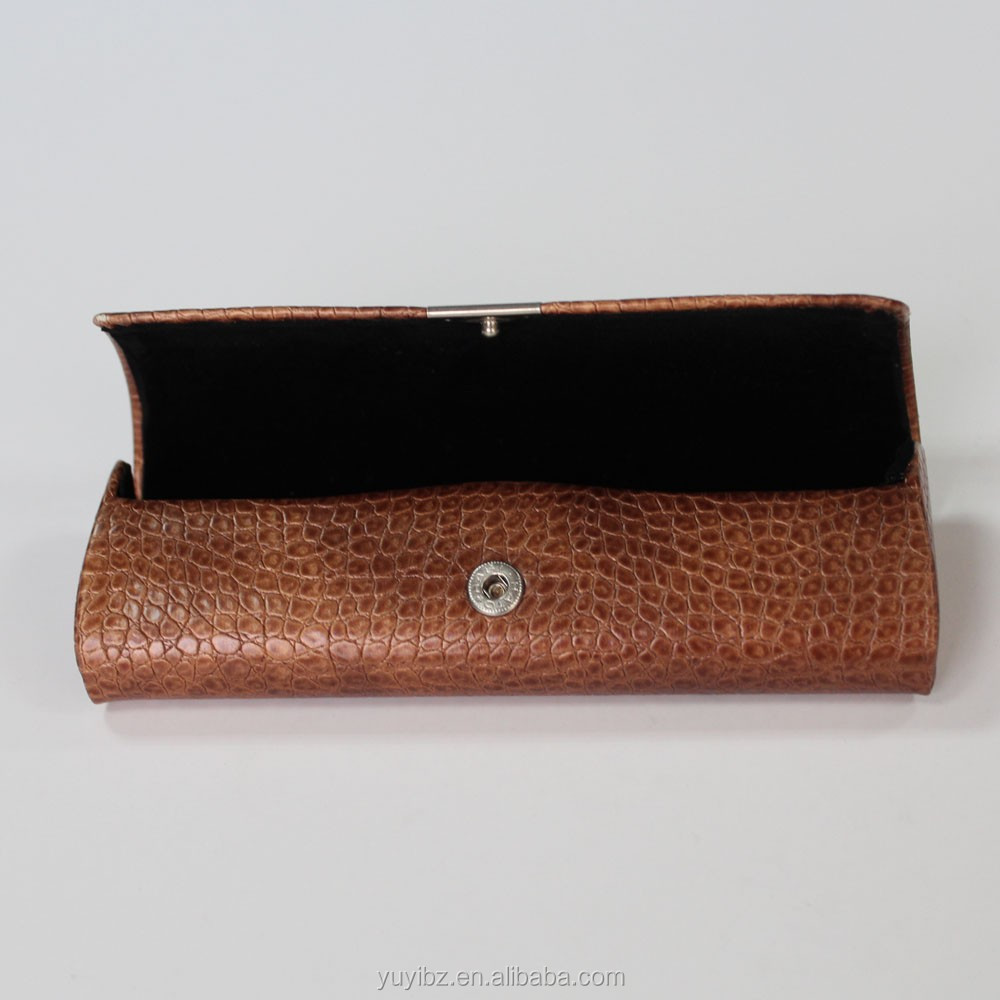 pu leather glasses hard case custom eyewear box