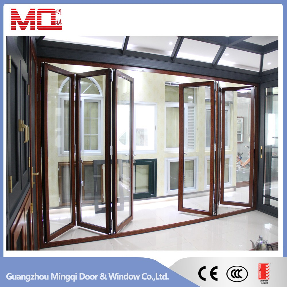 New design outdoor insulated heavy aluminum glass sliding for Folding window