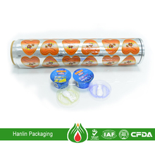 Composited lacquer aluminium foil lid for food packaging
