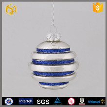 Hanging inside painted glass christmas ball ornament for sale