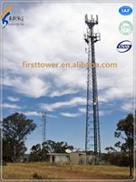 GSM telecommunication steel monopole antenna tower