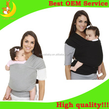 Custom logo cotton baby sling carrier soft and strechy baby wrap for newborns
