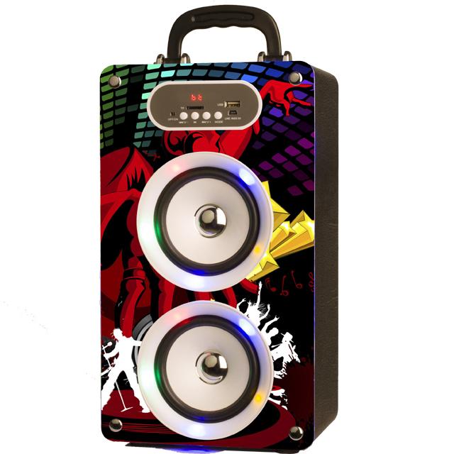 Hot sale 2018 commercial wireless blue tooth speaker high quality new wooden karaoke speaker