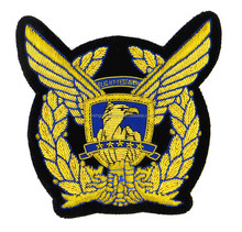 eagle shape badge embroidery