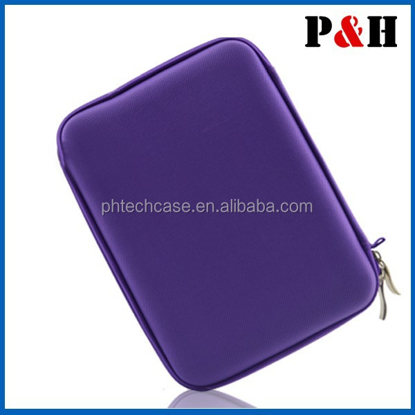 "Purple EVA Travel Hard Case Cover Bag for Various 10.1"" Tablets Stand"