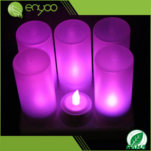 6 pcs/set Rechargeable Purple Light Electric LED Tea Light Candles