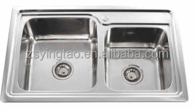Prefab Double Sin Vanity Top,Industrial Kitchen Sink,Malaysia Kitchen Sink-YTD8050B