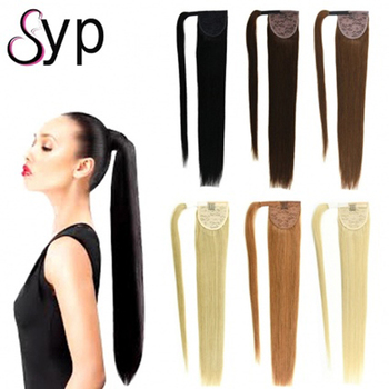 100g Gorgeous Adult Ponytail Human Hair Extensions High Side Fashionable Elastic Bands For Black White Women Medium Layered Hair