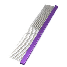Factory order and wholesale Pet stainless Steel Grooming Comb