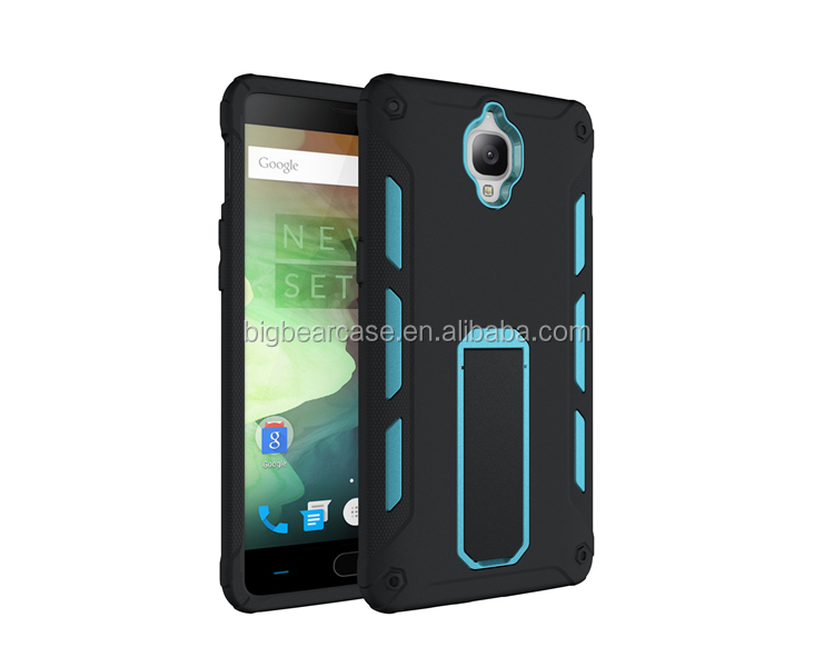 Kickstand cell phone back cover one plus 3